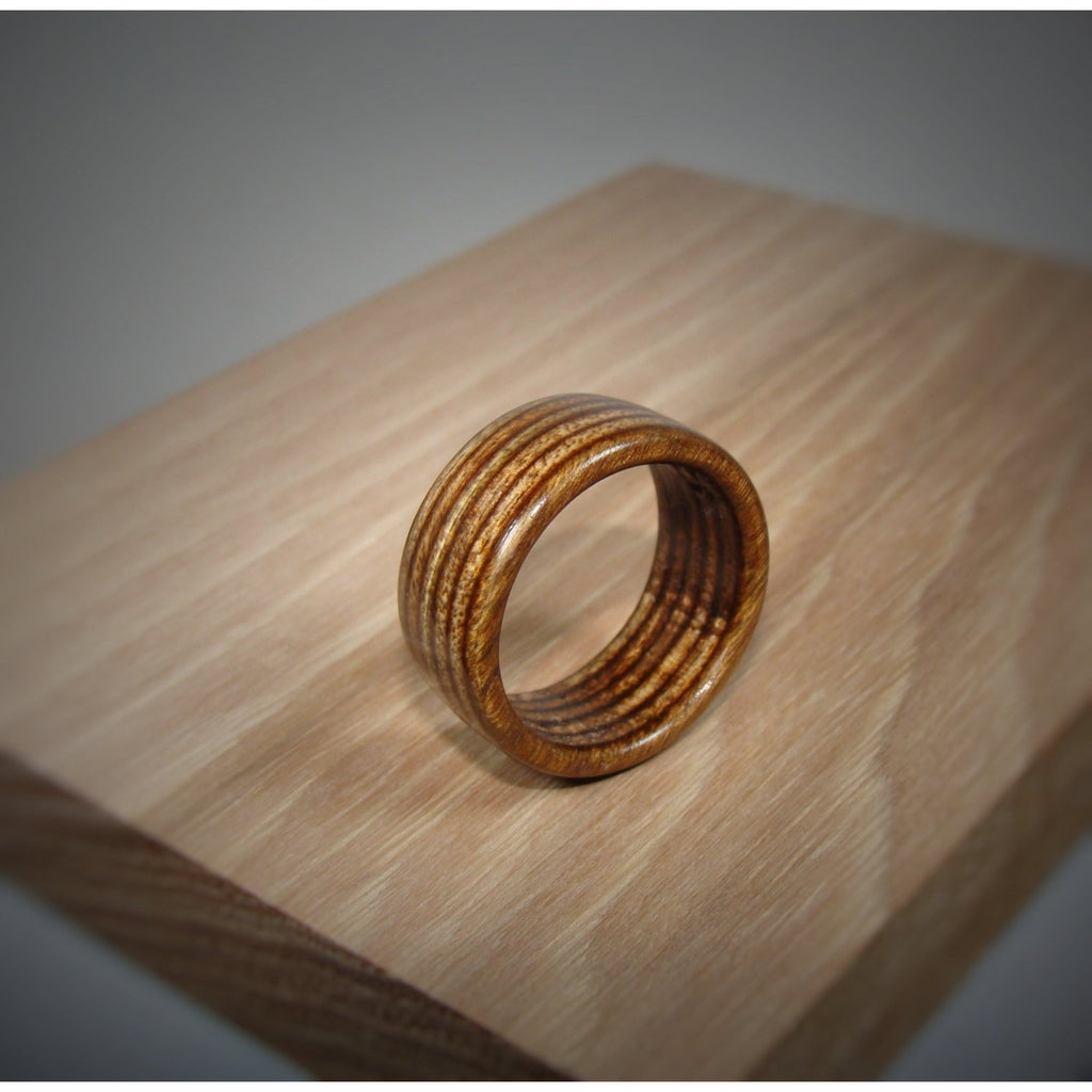 Spectraply Brown Wood Ring - Bentwood or Solid Wood - Art and Soule