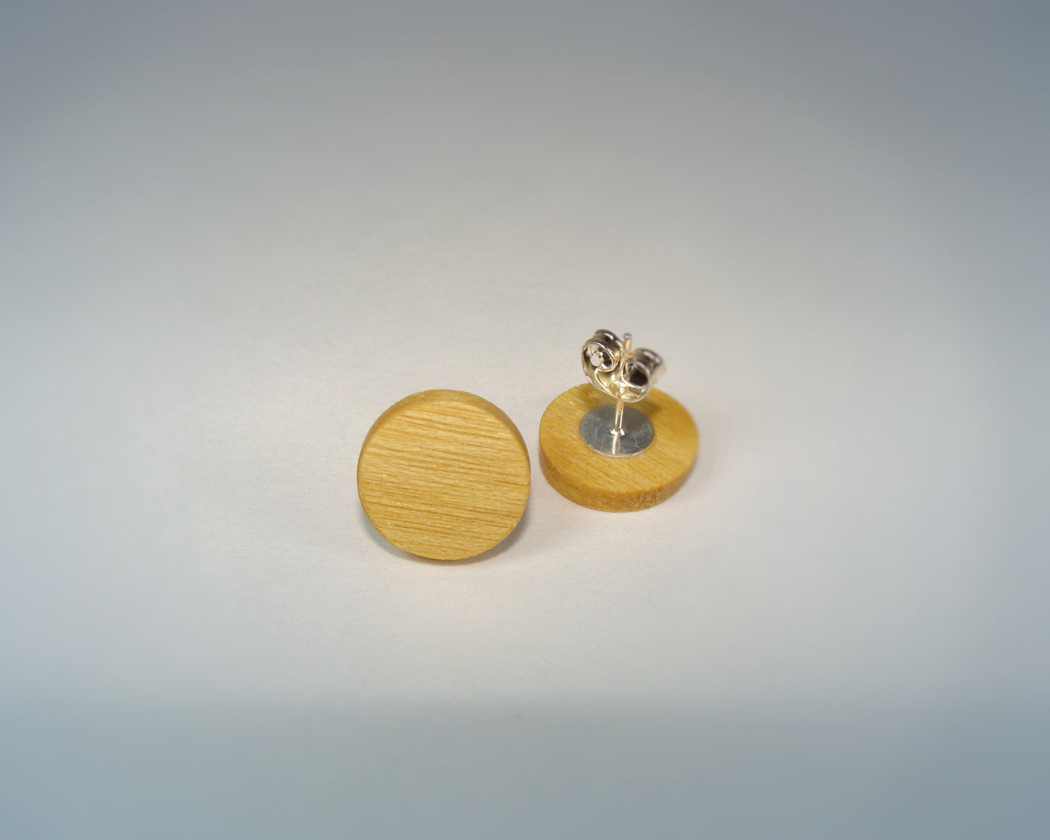 Yellowheart Wood Earrings - Stud or Dangle - Multiple Sizes - Art and Soule