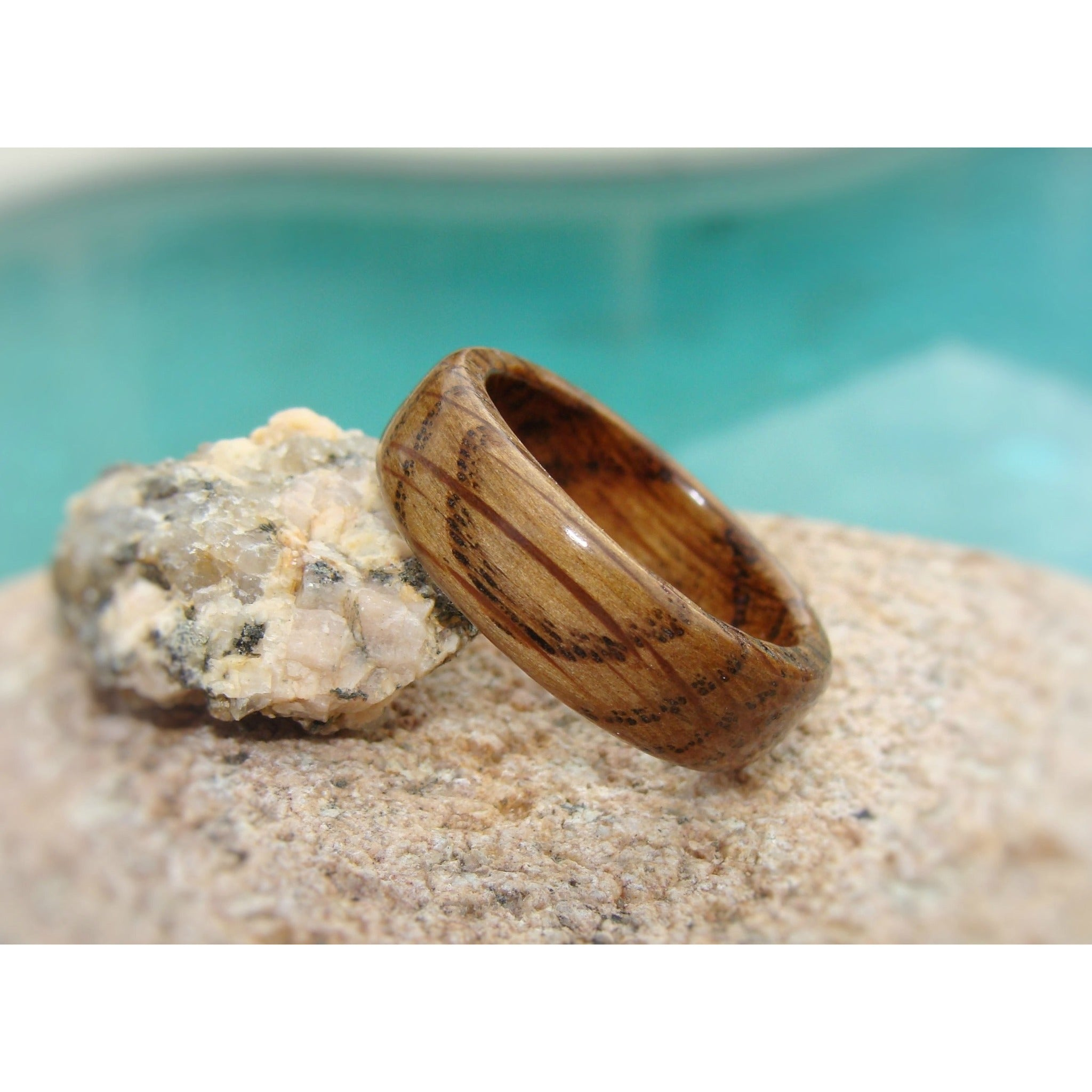 Whiskey Barrel Solid Wood Ring - Jack Daniels Tennessee Whiskey Barrel Ring - Art and Soule