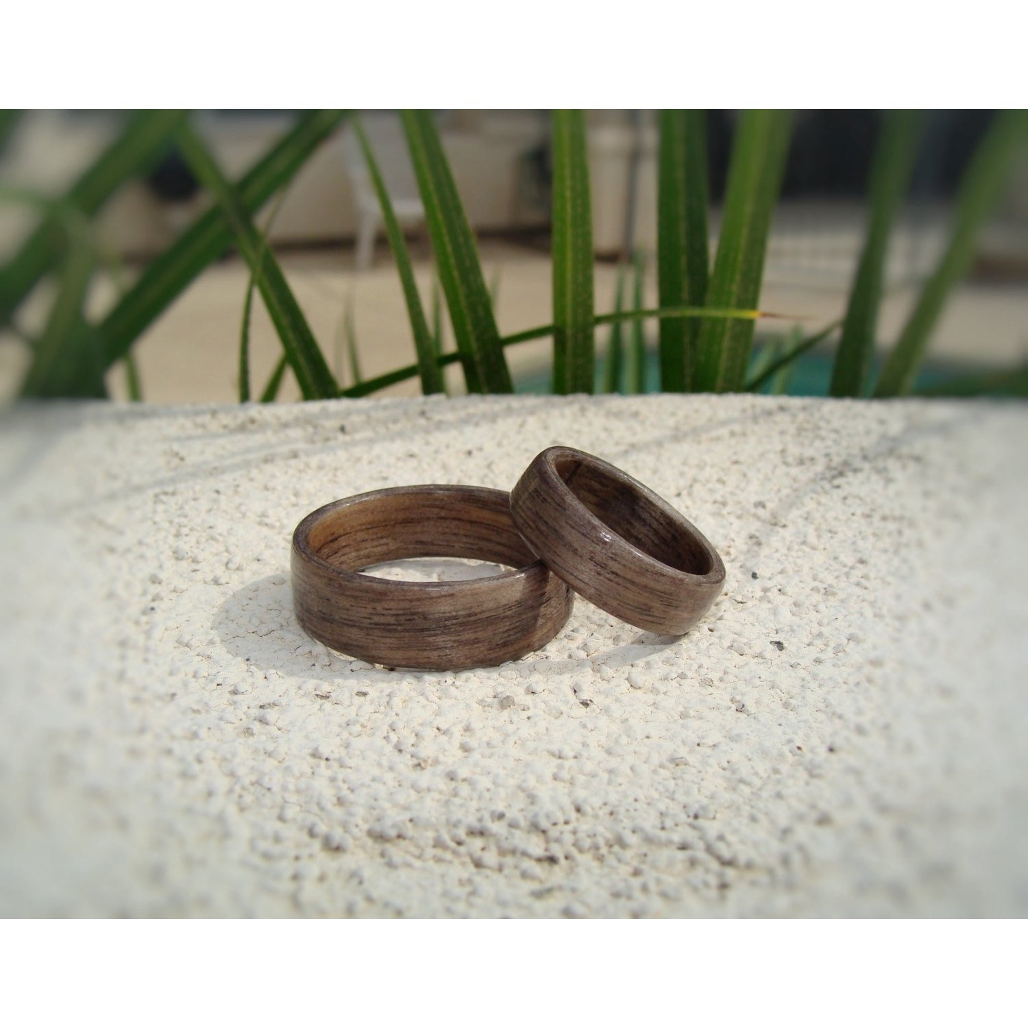 Gray Dyed Birch Bentwood Wood Ring Set - Art and Soule