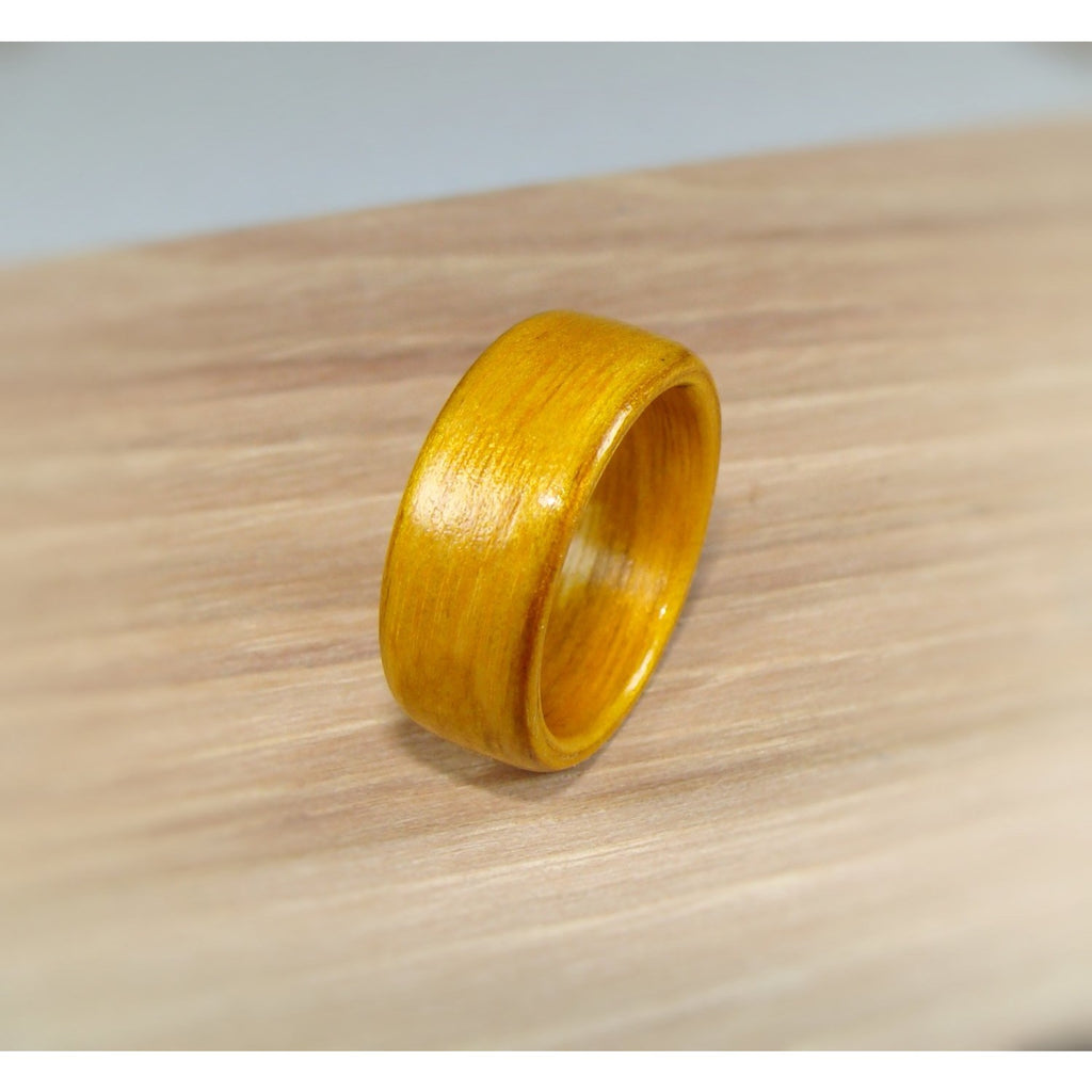 Amber Dyed Birch Bentwood Wood Ring - Art and Soule