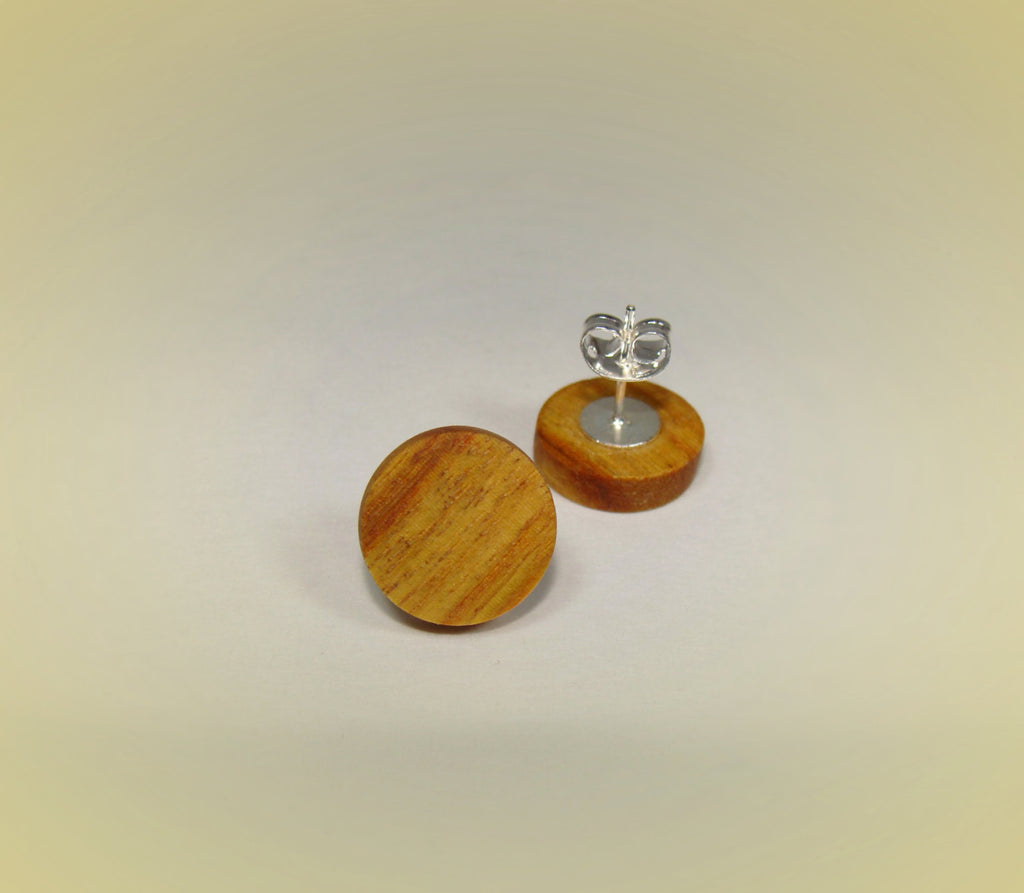 Canarywood Stud Earrings - Multiple Sizes - Art and Soule