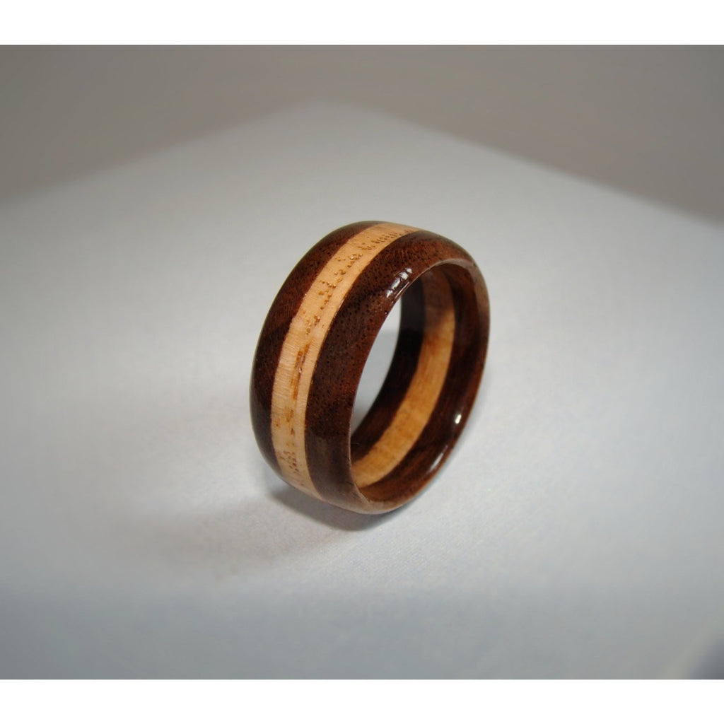 Walnut and Oak Layered Wood Ring - Art and Soule