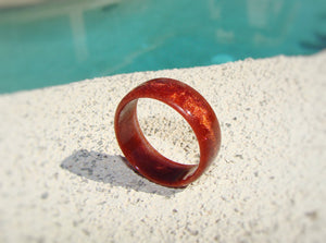 Copper Pearl Acrylic Resin Ring - Art and Soule