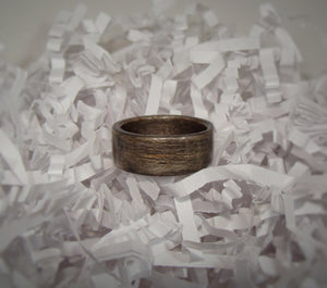 Gray Dyed Birch Bentwood Wood Ring - Art and Soule