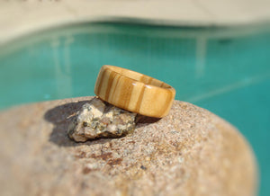 Olive Wood Solid Wood Ring - Art and Soule