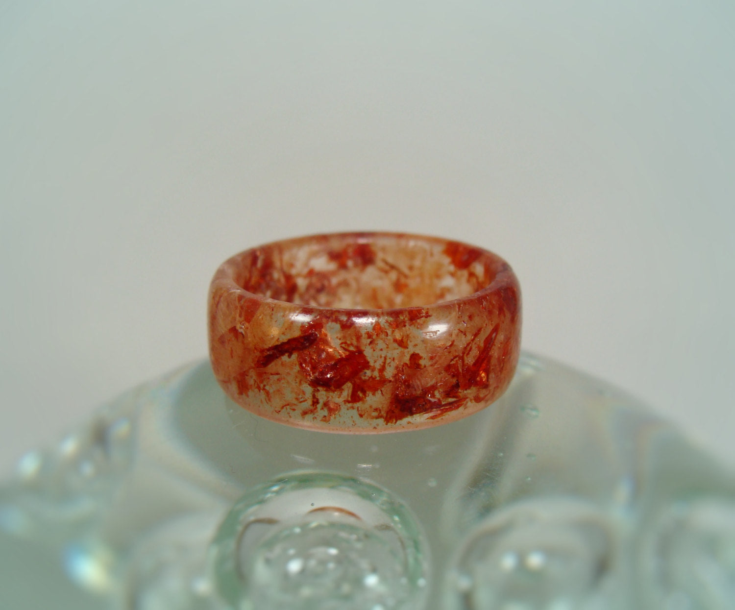 Bloodwood and Maple Wood Clear Resin Ring - Art and Soule
