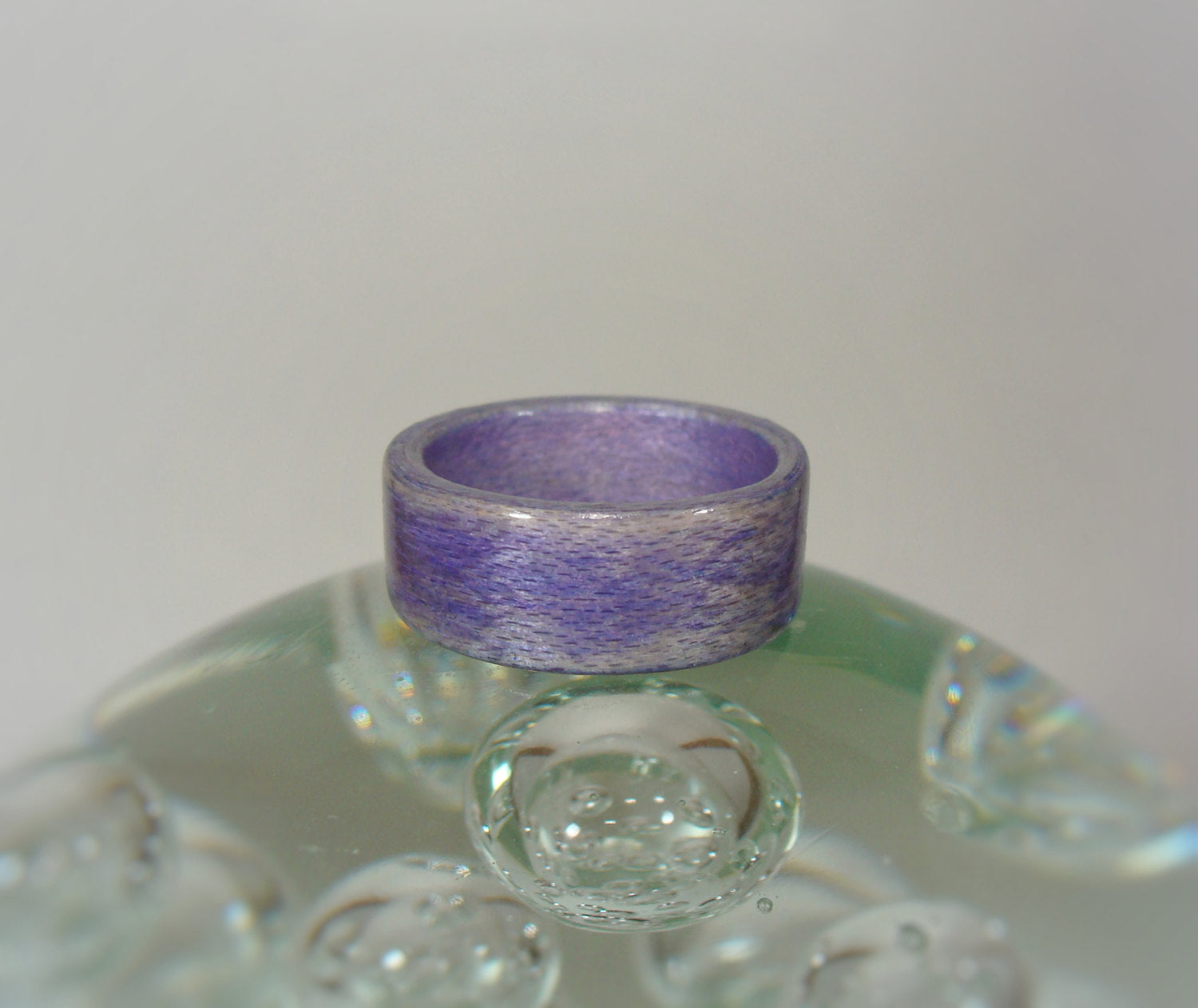 Lavender Purple Dyed Birch Bentwood Wood Ring - Art and Soule