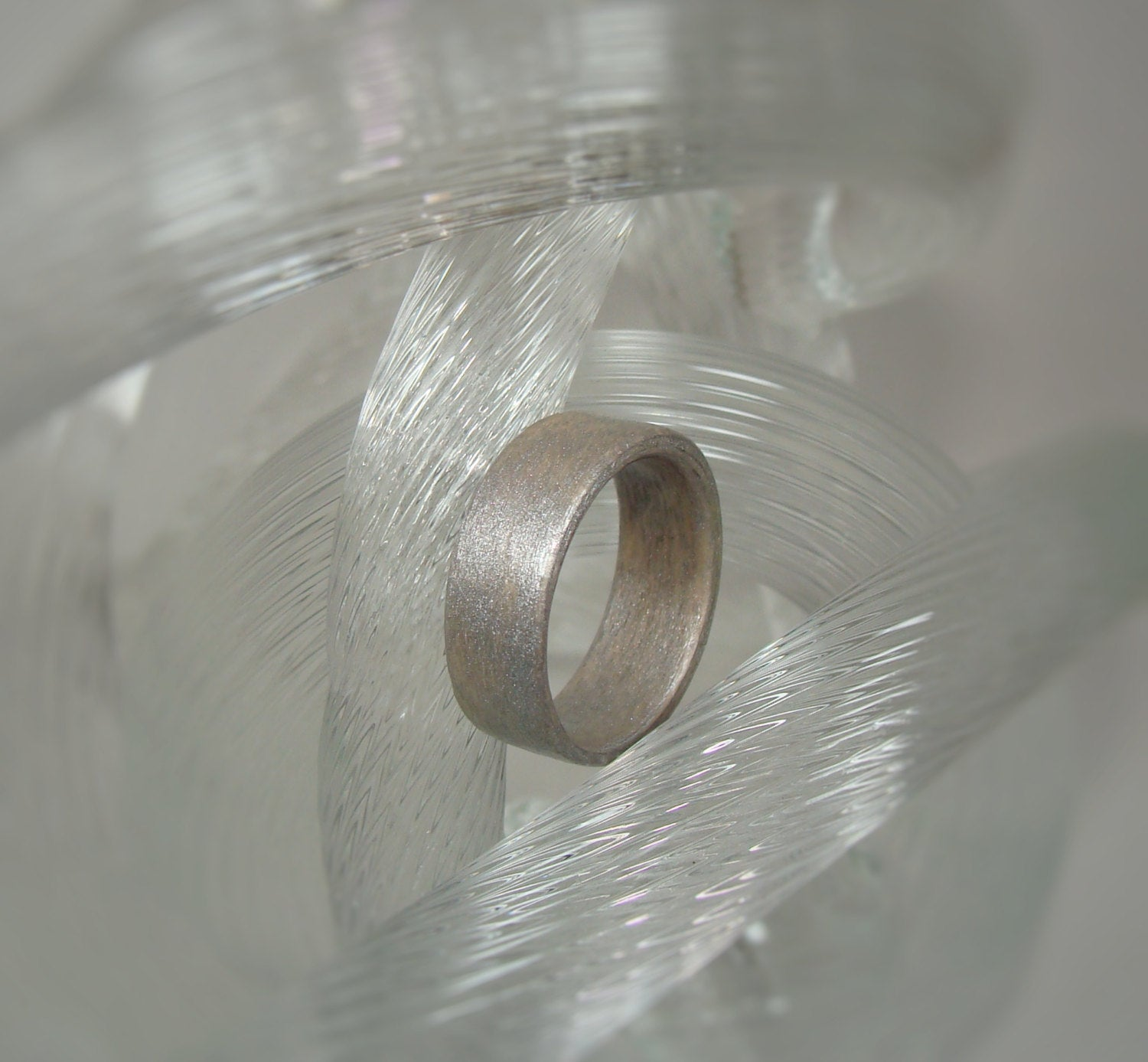 Silver Dyed Birch Bentwood Wood Ring - Art and Soule
