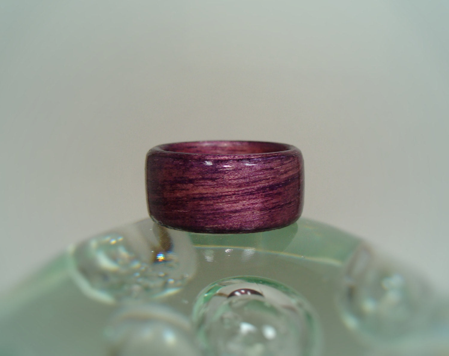 Purple Dyed Birch Bentwood Wood Ring - Art and Soule