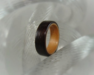 East Indian Rosewood & Alderwood Bentwood Wood Ring - Art and Soule