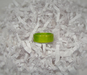 Lime Green Dyed Birch Bentwood Wood Ring - Art and Soule