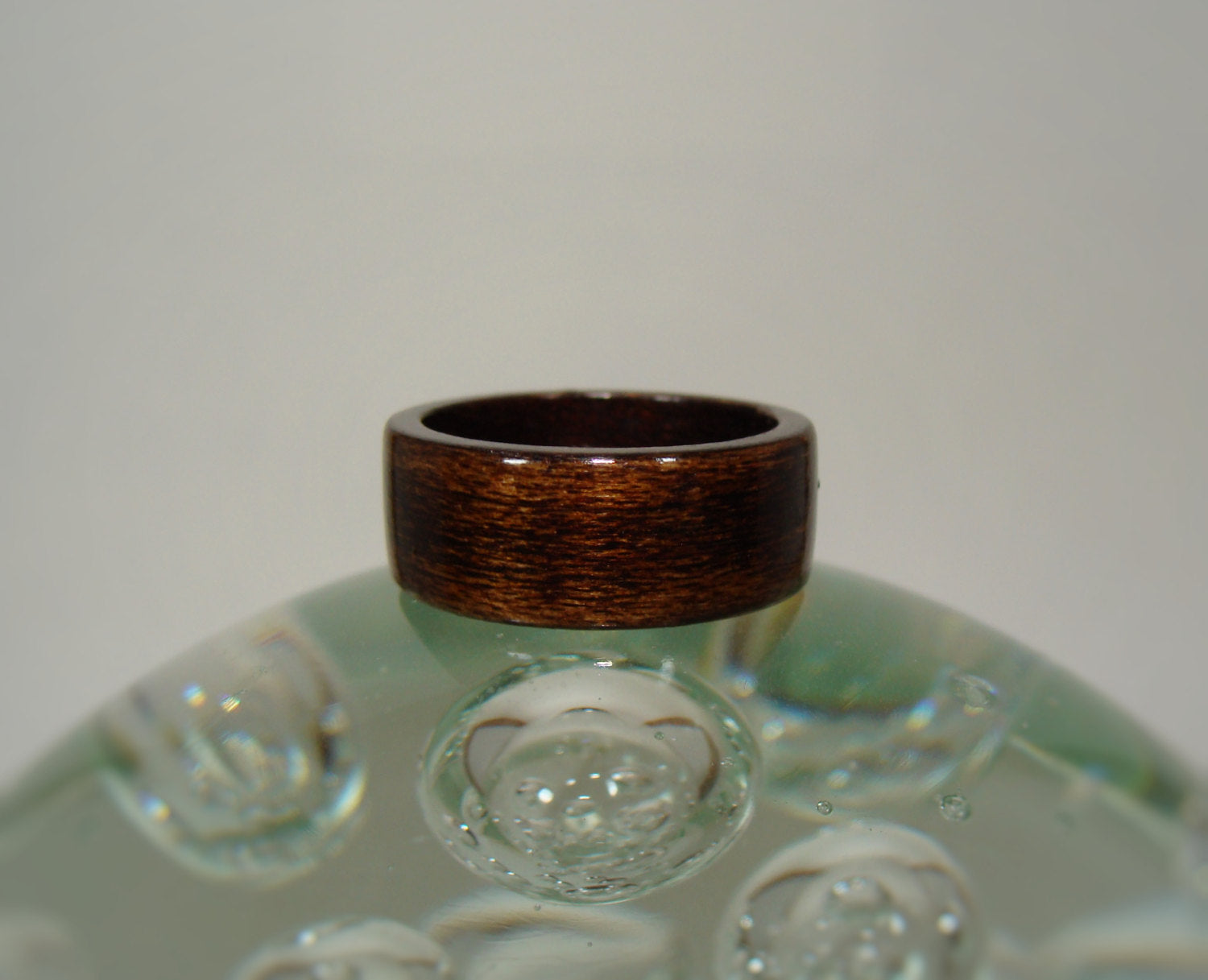 Espresso Brown Dyed Birch Bentwood Wood Ring - Art and Soule