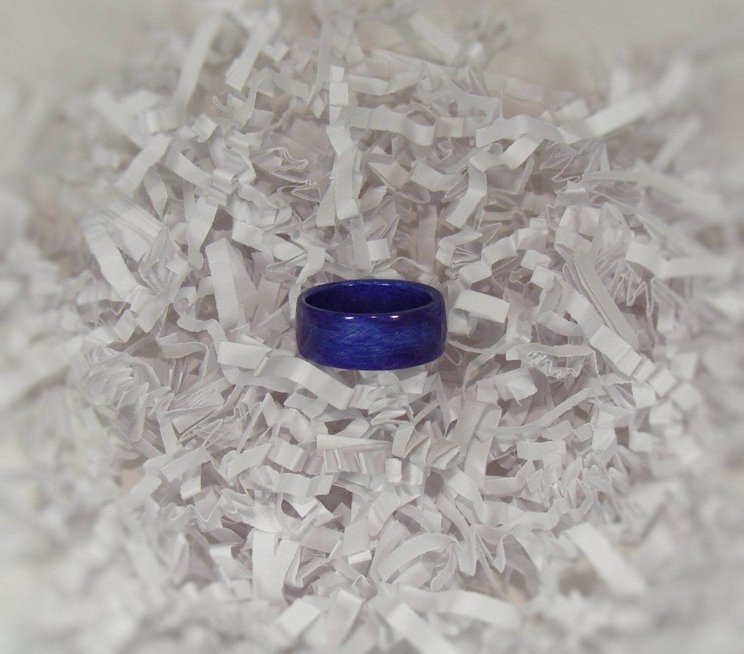 Dark Blue Dyed Birch Bentwood Wood Ring - Art and Soule