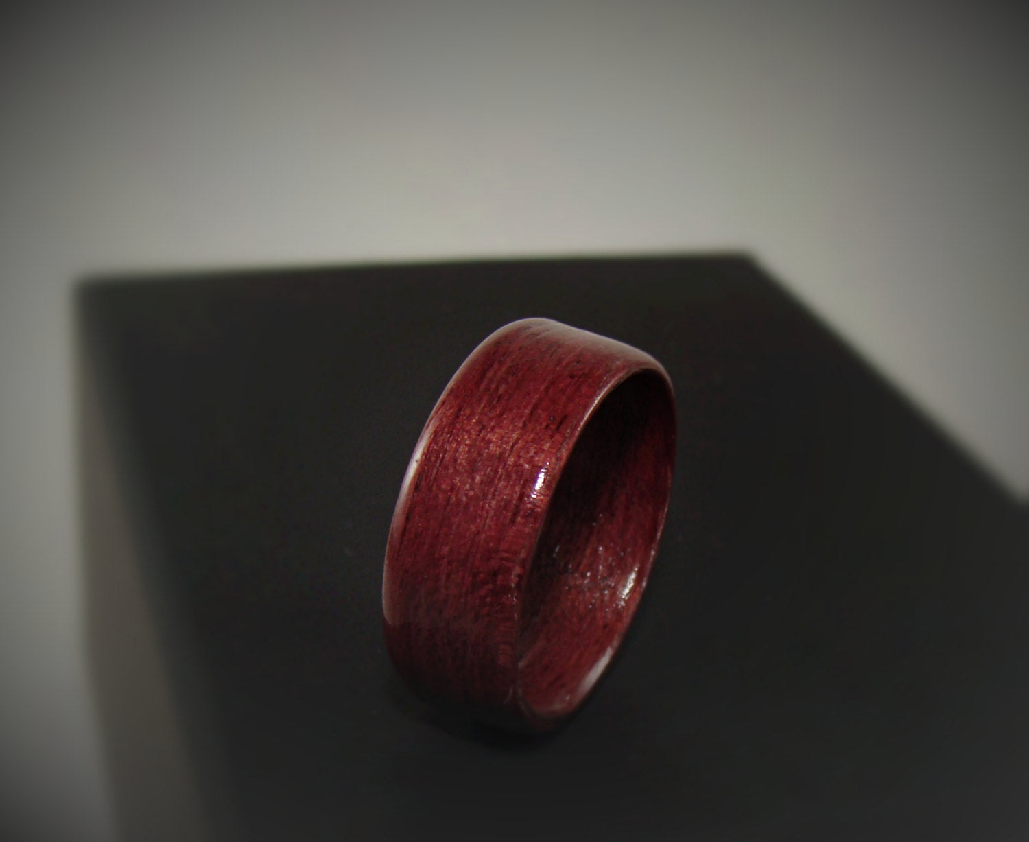 Purpleheart Bentwood Wood Ring - Art and Soule