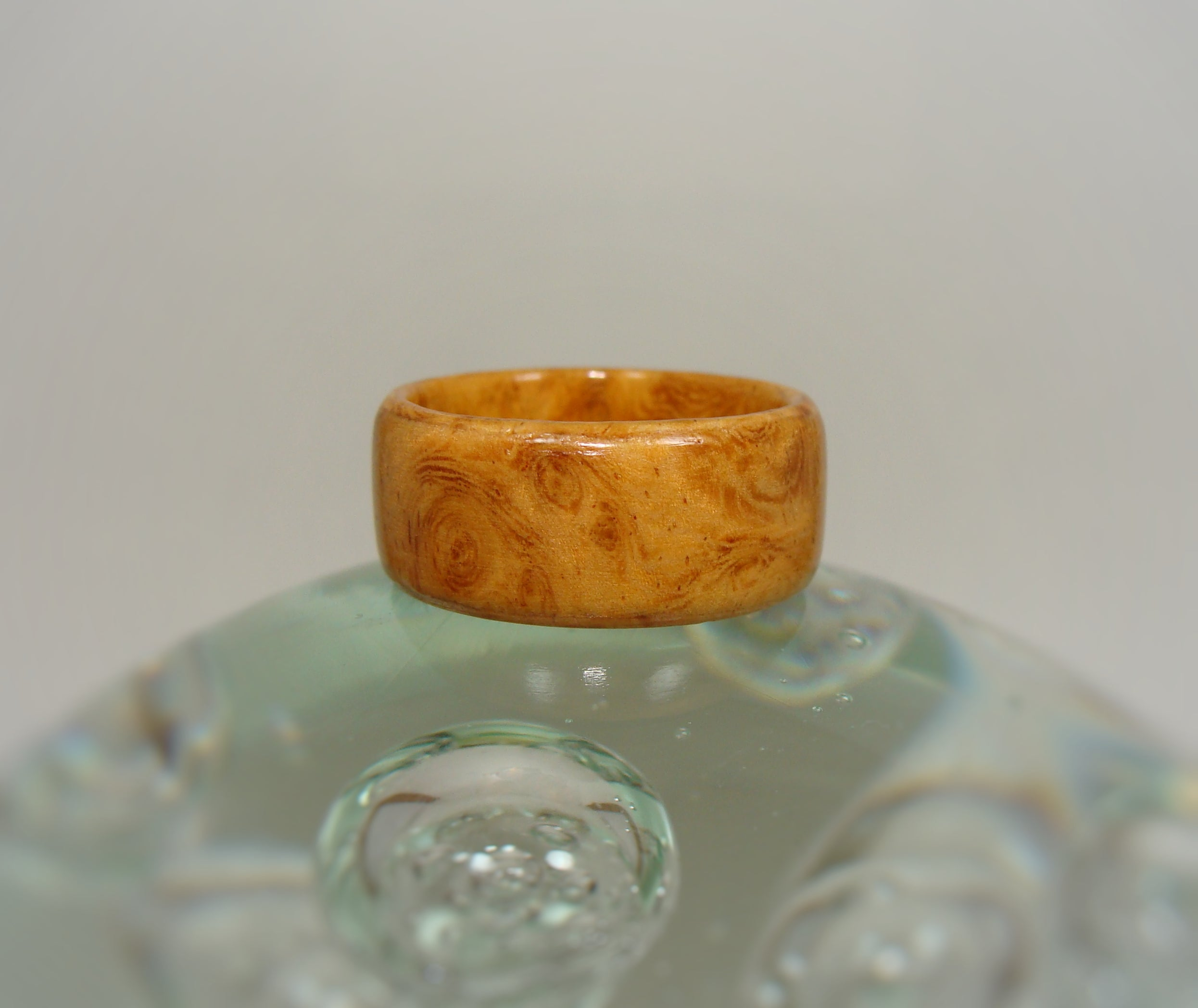 Amboyna Burl Bentwood Wood Ring - Art and Soule