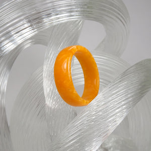 Orange Pearl Acrylic Resin Ring - Art and Soule