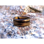 Tennessee Whiskey Barrel Bentwood Ring - Charred Jack Daniels Barrel Wood Ring - Art and Soule