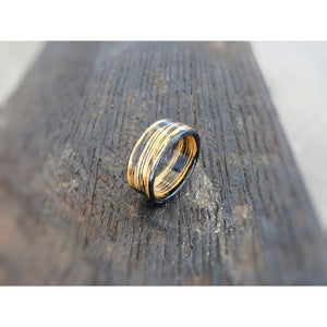 Charred Jack Daniels Tennessee Whiskey Barrel Bentwood Ring - Art and Soule