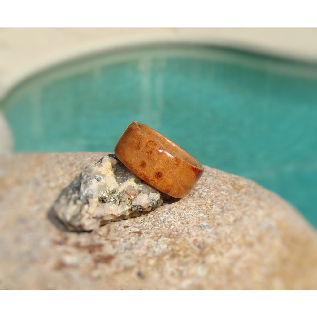 Maple Burl Bentwood Wood Ring - Art and Soule