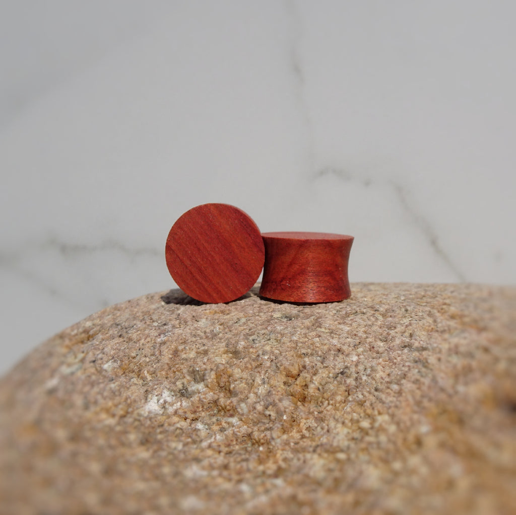 Redheart Wood Double Flared Ear Plugs - Ear Gauges - Art and Soule