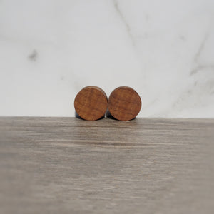Roasted Maple Wood Double Flared Ear Plugs - Ear Gauges - Art and Soule