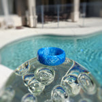 Blue Pearl Acrylic Resin Ring - Art and Soule