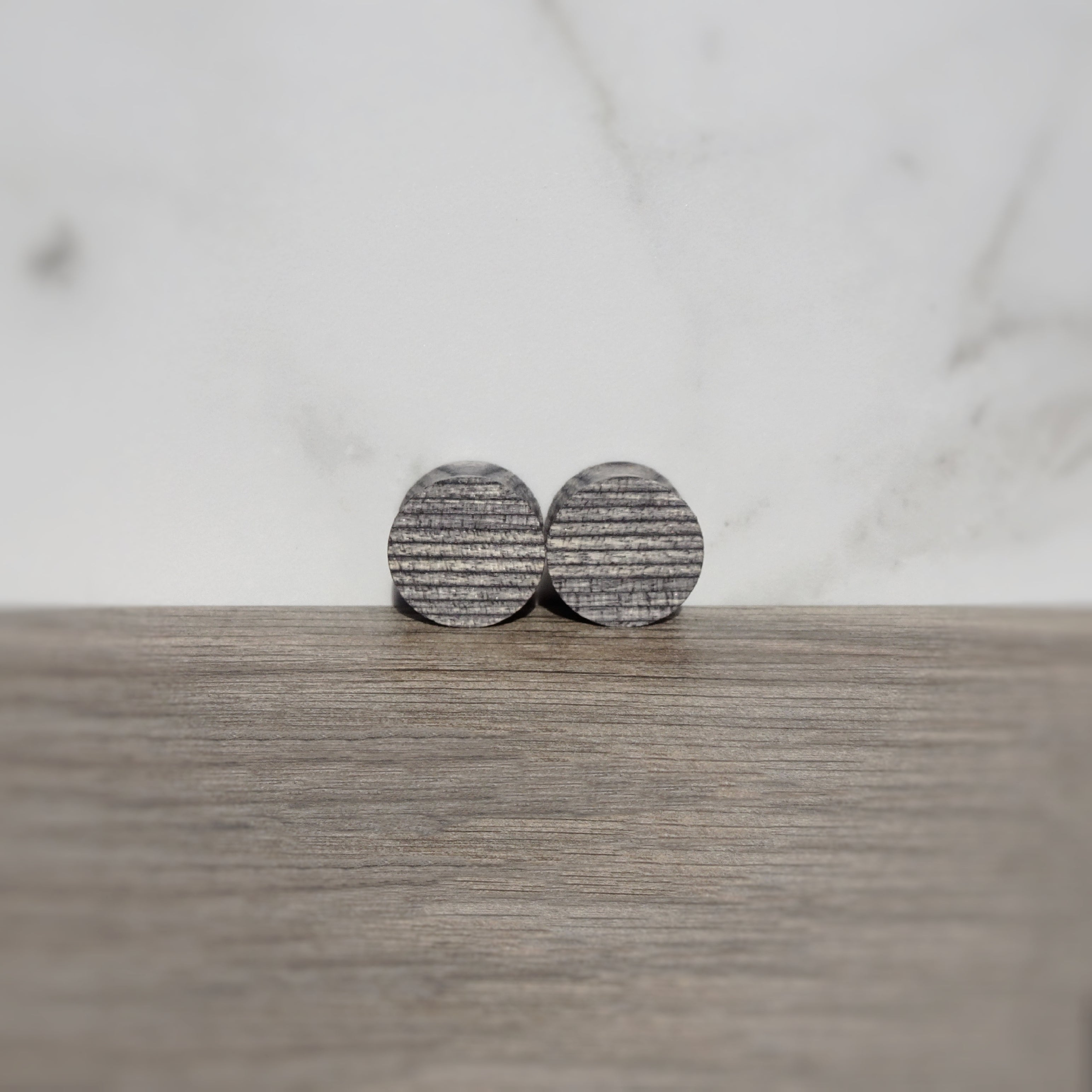 Charcoal Gray Spectraply Wood Double Flared Ear Plugs - Ear Gauges - Art and Soule
