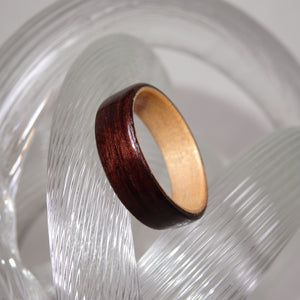 East Indian Rosewood & Alderwood Bentwood Wood Ring - Size 7 - Clearance Ring - Art and Soule