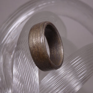 Gray Dyed Birch Bentwood Wood Ring - Size 8.5 - Clearance Ring - Art and Soule