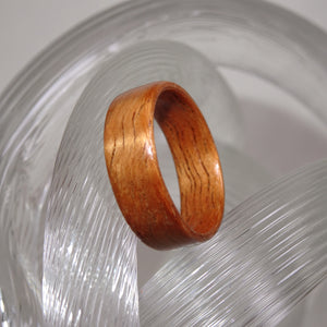 Curly Koa Bentwood Wood Ring - Size 7.75 - Clearance Ring - Art and Soule