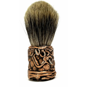 Copper Free Form Badger Brush - Ella Leather