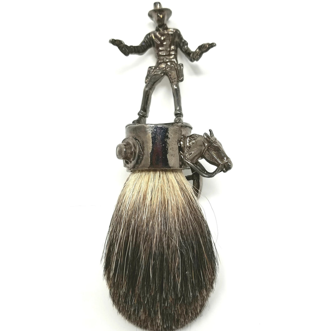 Wicked Bad Ass John Wayne Best Badger Brush Hematite - Ella Leather