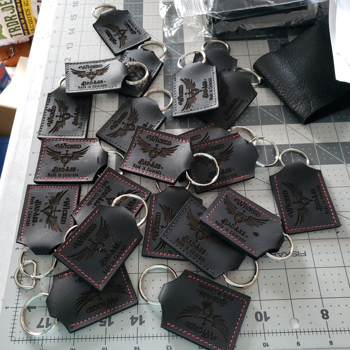 Wicked Bad Ass Leather Key Chain - Ella Leather