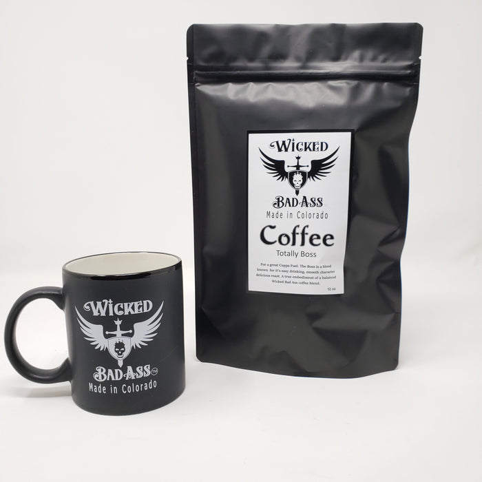 Wicked Bad Ass Coffee and  Mug - Ella Leather