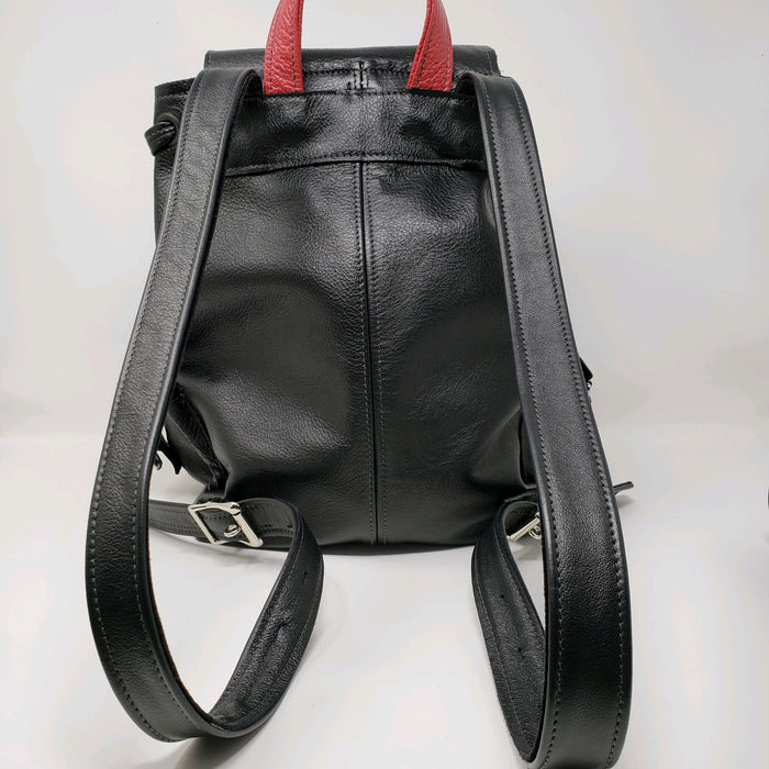 Black Leather Backpack - Ella Leather