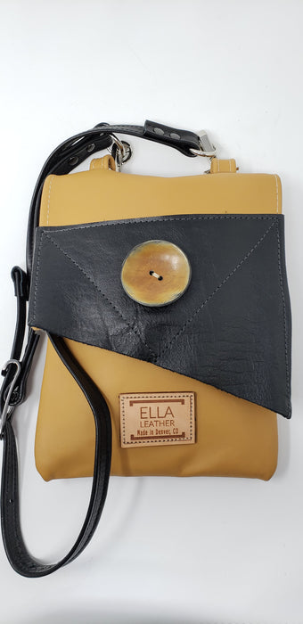 Black and Tan Leather Crossbody - Ella Leather