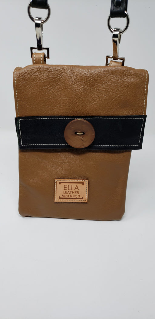 Artisan Leather Tan Crossbody - Ella Leather
