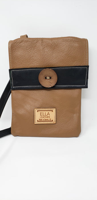 Tan Leather Purse - Ella Leather