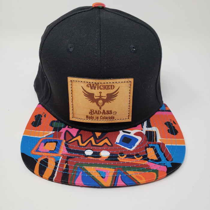 Wild Geometric Trucker Hat - Ella Leather
