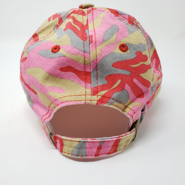 Wicked Bad Ass Low Profile Camo Baseball Cap - Ella Leather