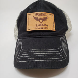 Wicked Bad Ass Basball Cap - Ella Leather