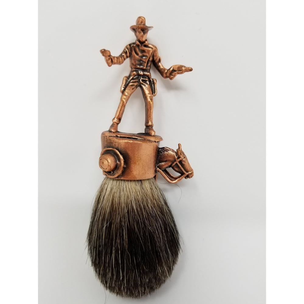 John Wayne Cowboy Badger Brush - Ella Leather