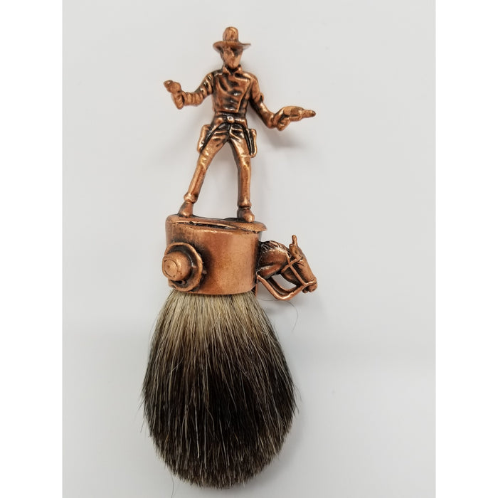 Wicked Bad Ass John Wayne Cowboy Best Badger Brush Copper - Ella Leather