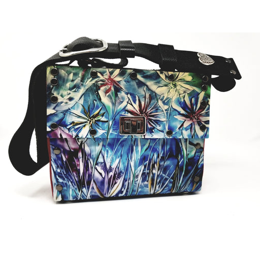 Unique One of a Kind Encaustic Wildflower Purse - Ella Leather