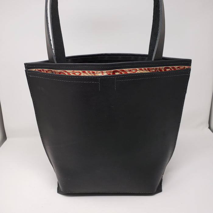 Artisan Leather Tote with the Perfect Outside Pocket - Ella Leather