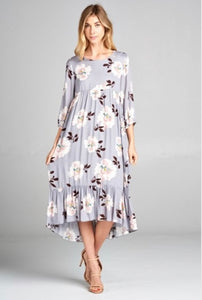 Cheyenne Floral Hi Low Maxi Midi Dress