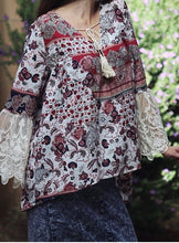 Bohemian Top with Lace Sleeves