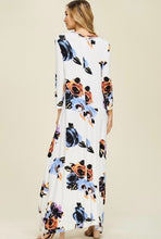 Summer Floral High Low Dress White