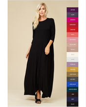 Jenna Maxi in Black or Burgundy